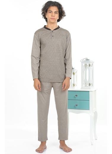 Akbeniz Erkek Pijama Takım Vizon